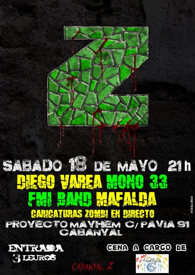 cartel concierto Mayhem Z