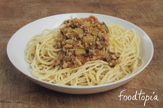 espaghettis boloñesa